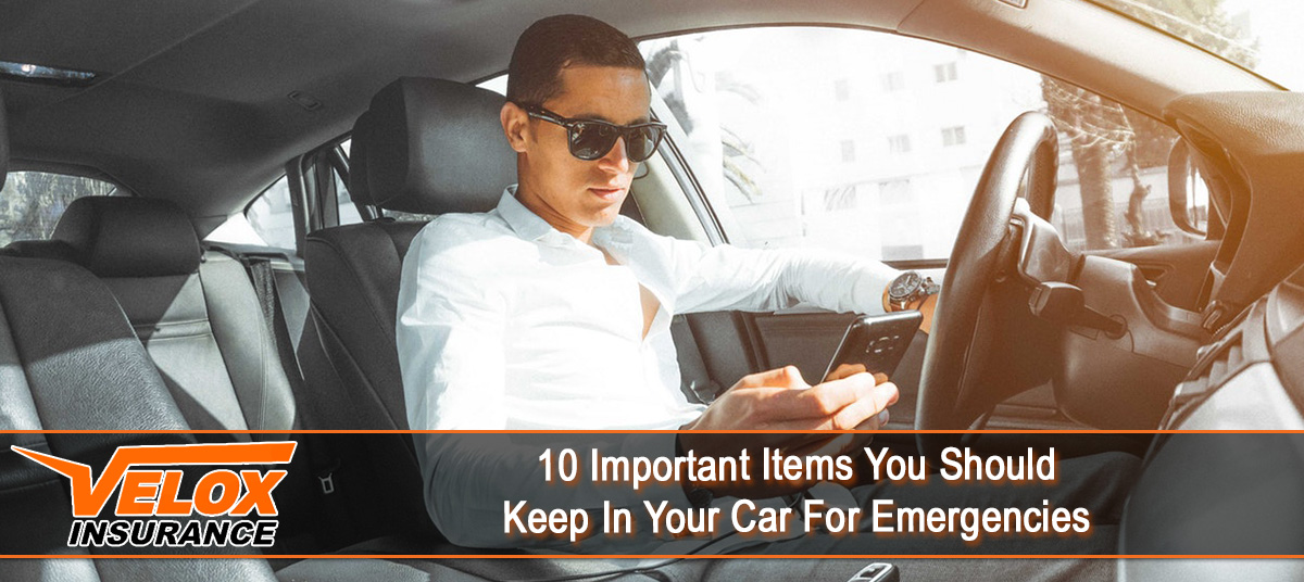 10 important items you should keep in your car for emergencies velox insurance auto. Black Bedroom Furniture Sets. Home Design Ideas