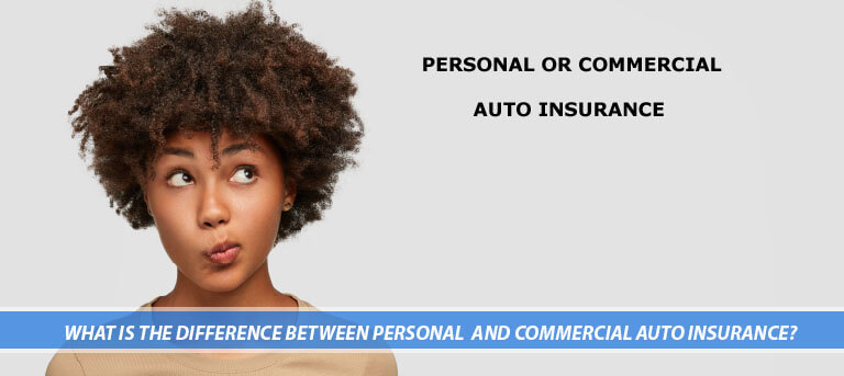 Woman wondering about personal or commercial auto insurance