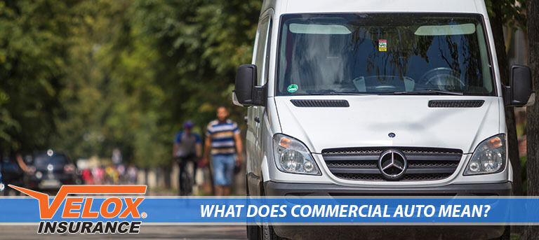 Commercial vehicle on the street