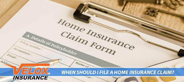 Homeowners insurance claim form