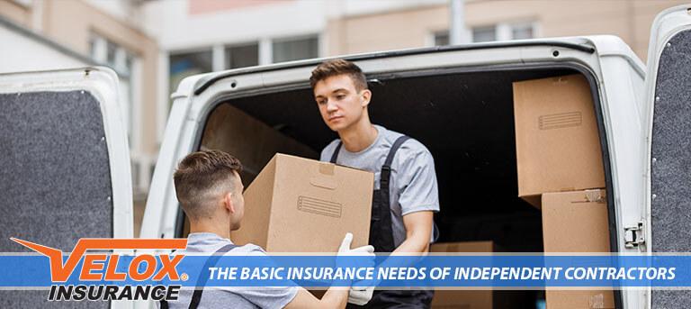 Independent Contractor unloading a cargo van